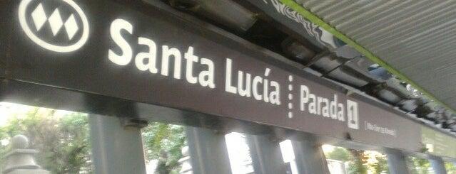 Parada 1 - Metro Santa Lucía (PA156) is one of Santiago Centro 2.