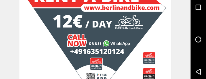 Rent a Bike Bike Tours - Bike Rental Berlin is one of Schokoladen Fabrik - Kinder Cafe#Berlin Kindercafe.