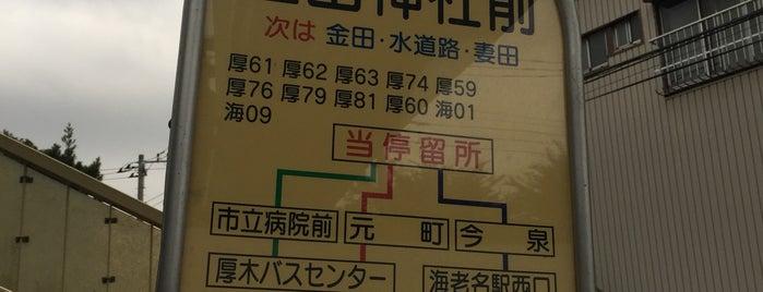 金田神社前バス停 is one of 海老名・綾瀬・座間・厚木.
