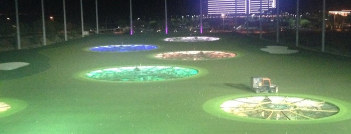 Topgolf is one of Orte, die Andy gefallen.