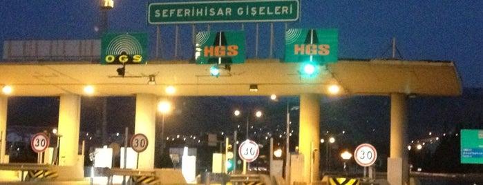 Seferihisar Gişeler is one of İzmir - Çeşme Otoyolu.