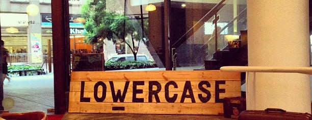 Lowercase is one of Work-Friendly Cafés.