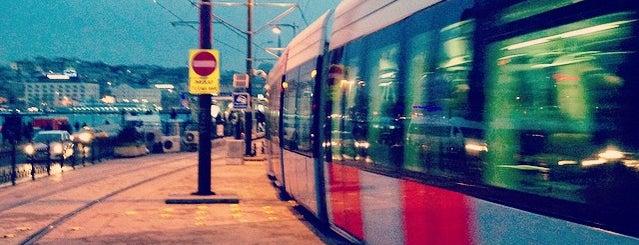 Karaköy Tramvay Durağı is one of T1 - Tramvay Durakları.