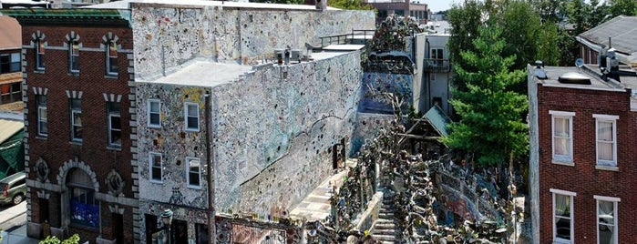 Philadelphia's Magic Gardens is one of Ziggy goes to Baltimore.