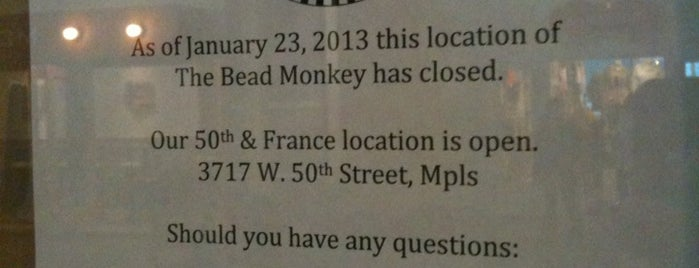 The Bead Monkey is one of A Collection of MN.