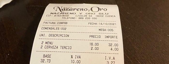 Restaurante Nazareno Y Oro is one of Los placeres de Pepa 1.