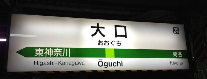 Ōguchi Station is one of JR 미나미간토지방역 (JR 南関東地方の駅).