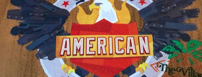 Guy Fieri's American Kitchen And Bar is one of Gespeicherte Orte von Lizzie.