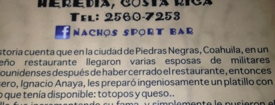 Nachos Sport Bar is one of Heredia.