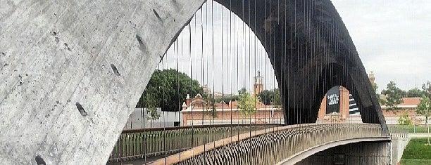 Puente de Matadero is one of Madrid Río: Puentes, pasarelas y presas.