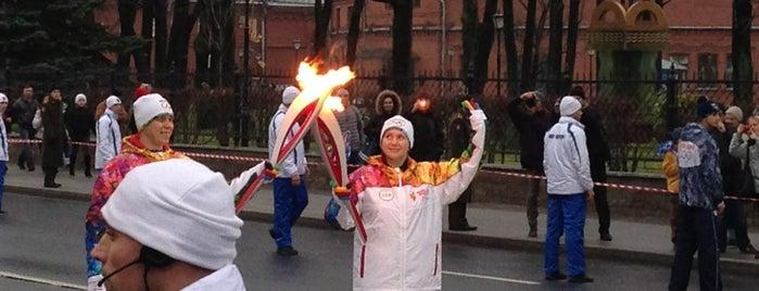 Эстафета Олимпийского огня Сочи-2014: Санкт-Петербург is one of Posti che sono piaciuti a Telman.