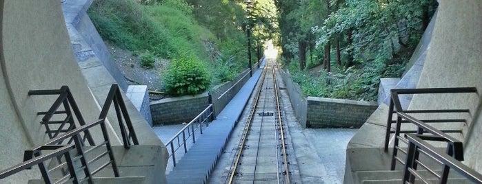 Funicular High Station | ფუნიკულიორის ზედა სადგური is one of Galina'nın Kaydettiği Mekanlar.