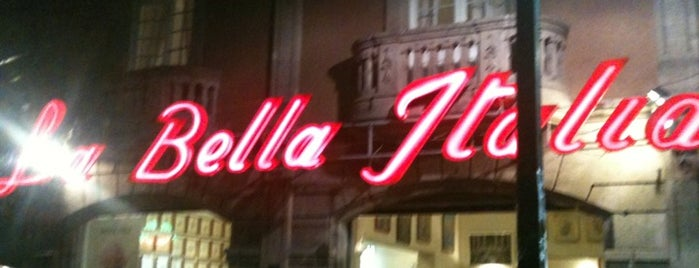 La Bella Italia is one of Restaurantes probados.
