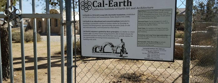 Cal-Earth Institute is one of When you travel.....