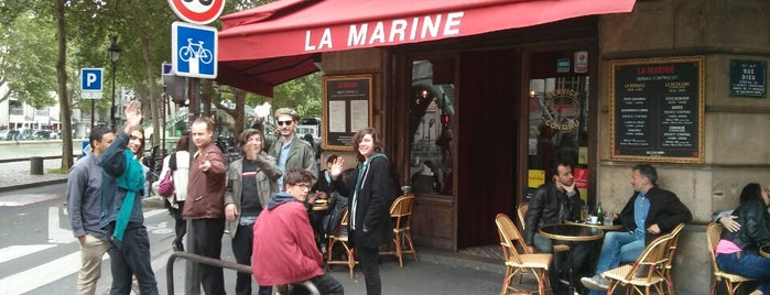 La Marine is one of Fave Paris spots.