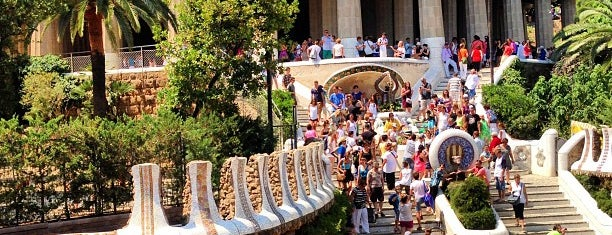Parque Güell is one of Mediterranean Excursion.