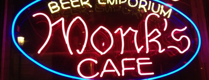 Monk's Cafe is one of 100 Things to Do in Philly.