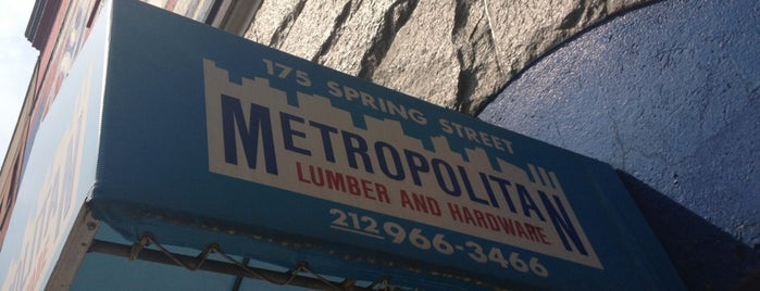 Metropolitan Lumber and Hardware is one of b ~ check !.