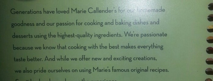 Marie Callender's is one of Fave Places.
