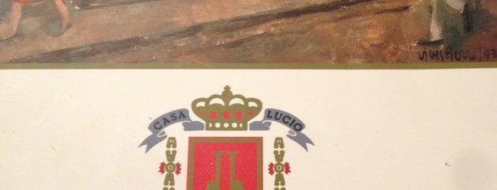 Casa Lucio is one of Madrid: Restaurantes +.