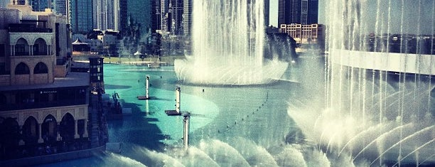 The Dubai Fountain is one of Dubai/Abu Dhabi.