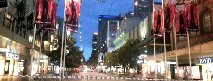 Bourke Street Mall is one of Melbourne.