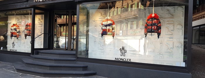 Moncler is one of Verbier- Gstaad- Courchevel- Genève.