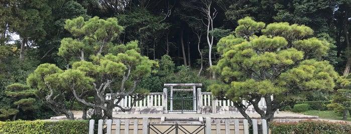 懿徳天皇 畝傍山南纖沙溪上陵 is one of Kashihara (橿原市), Nara.
