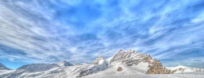 Jungfraujoch (3454m) is one of EUROPE.