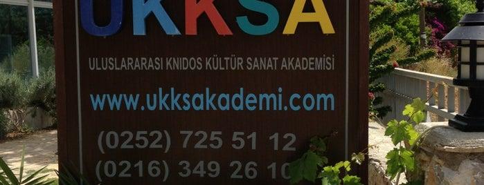 UKKSA (Uluslararası Knidos Kültür Sanat Akademisi) is one of Marmaris & Datça & Knidos & Selimiye.
