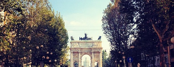 Arco della Pace is one of Milan by night.