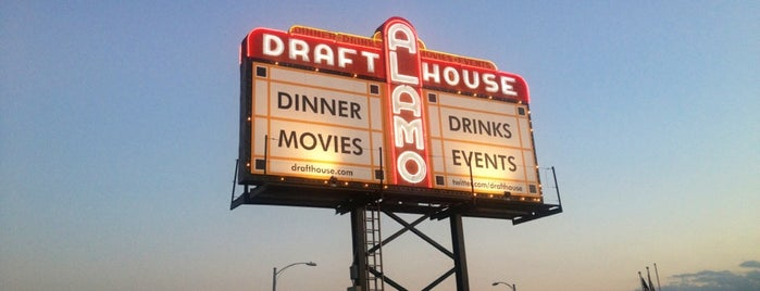 Alamo Drafthouse Cinema is one of Tempat yang Disukai Blaise.