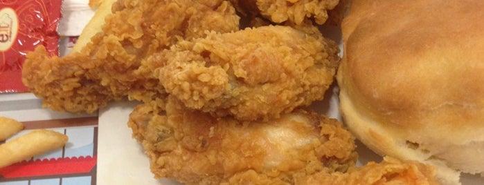 KFC is one of Orte, die Emre gefallen.
