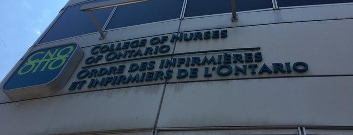 College Of Nurses Of Ontario is one of Toronto's Great Buildings.