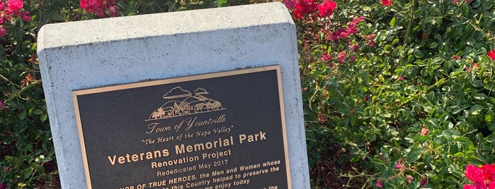 Yountville Veterans Memorial Park is one of Napa Valley.
