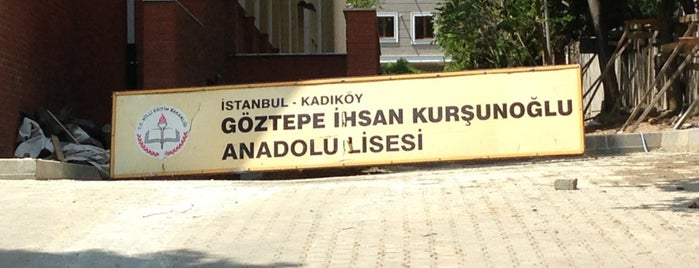 Göztepe İhsan Kurşunoğlu Anadolu Lisesi is one of Korhan 님이 좋아한 장소.