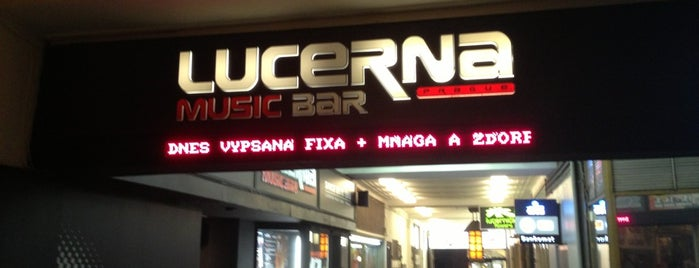 Lucerna Music Bar is one of Prag Entertainment.