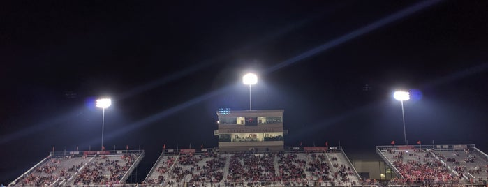Lovejoy Football Stadium is one of Places I have to go for my kids.