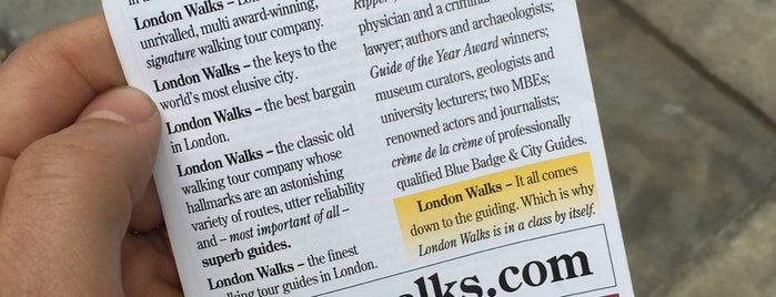 Original London Walks is one of Tired of London, Tired of Life (Jul-Dec).