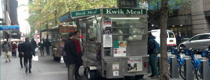 Kwik Meal Cart is one of New York's Best Food Trucks.