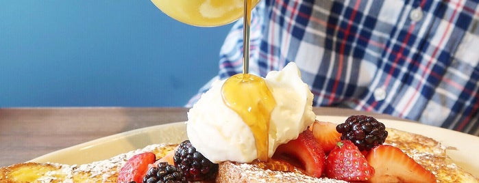 Snooze, an A.M. Eatery is one of Houston Faves.
