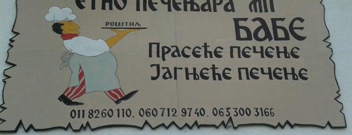 "Etno pečenjara ""Babe"" is one of Out of Belgrade."