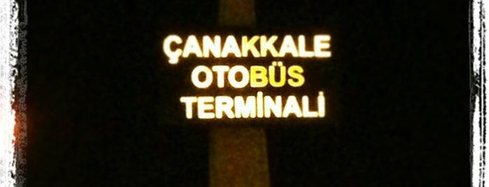 Çanakkale Şehirler Arası Otobüs Terminali is one of Lugares favoritos de Gizem.