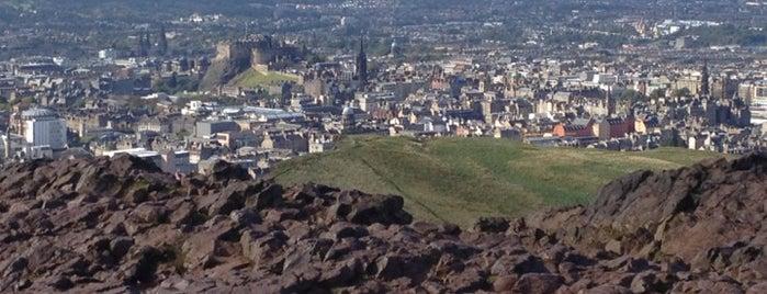 Arthur's Seat is one of Edinburgh.
