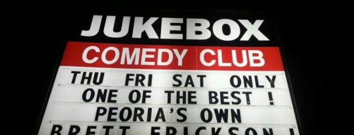 Jukebox Comedy Club is one of Peoria Places.
