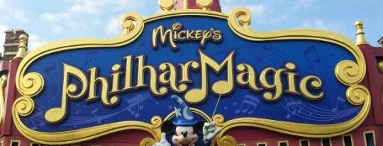 Mickey's PhilharMagic is one of Lugares favoritos de Shank.