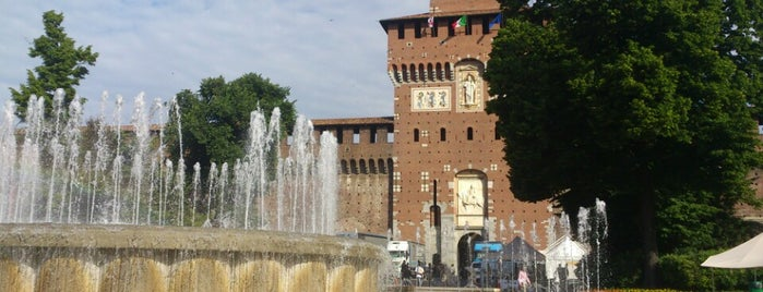 Fontana del Castello Sforzesco is one of Milan.