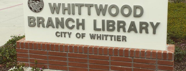 Whittier Public Library - Whittwood is one of Orte, die Paul gefallen.