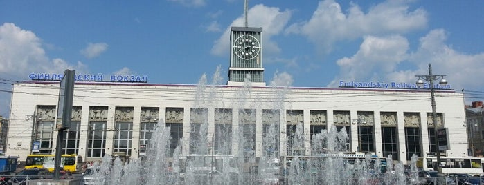 Finlyandsky Railway Station (FVS) is one of Вокзалы Санкт-Петербурга.