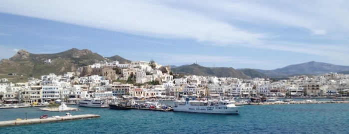 Port of Naxos is one of Greece.